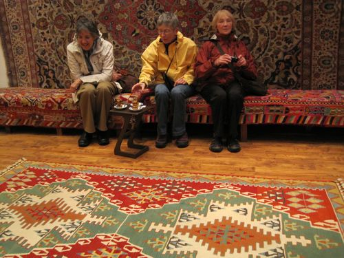 Linda, Karen, and Susan rug shopping