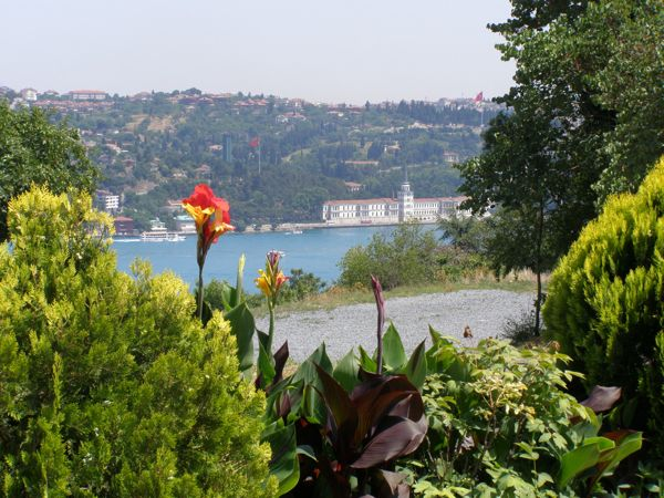My view overlooking the Bosphorus