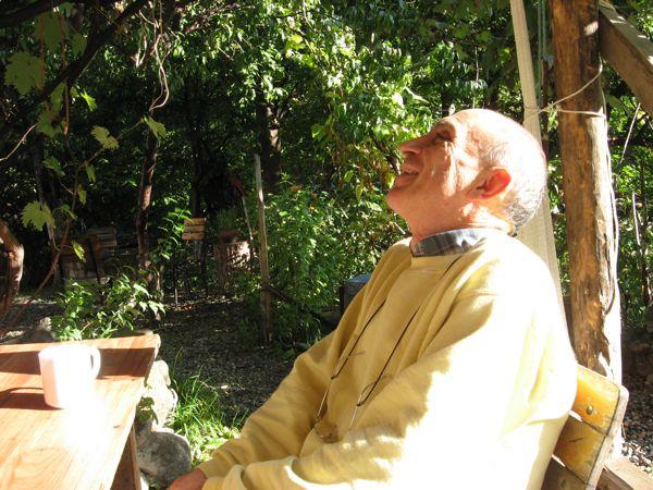 John enjoying morning sun