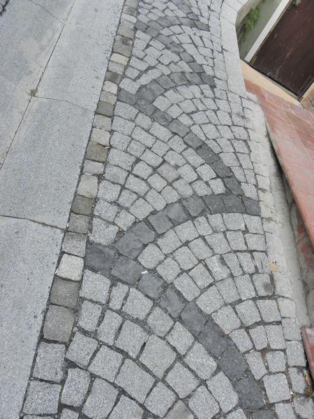 new cobbled street