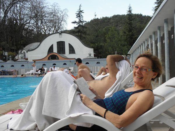 Jenny at Hamam pool