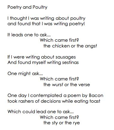 Poetry or poultry