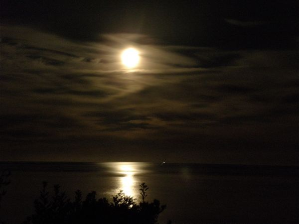 moon over Golden Bay