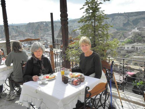 Gail and JoAnn breakfast at Kelebek