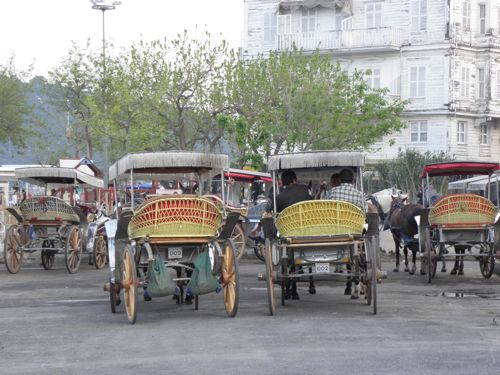 Horse carts on Burgazada-3