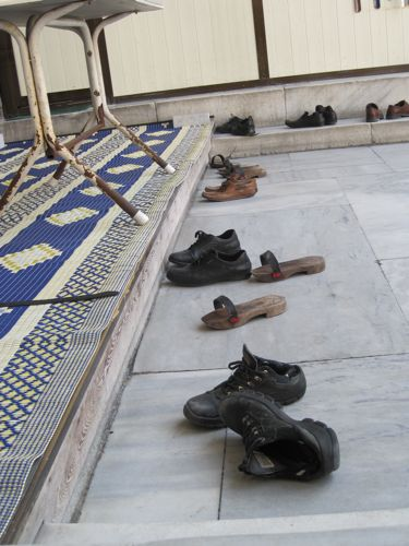 Laleli Mosque shoes