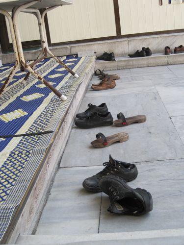 Laleli Mosque shoes