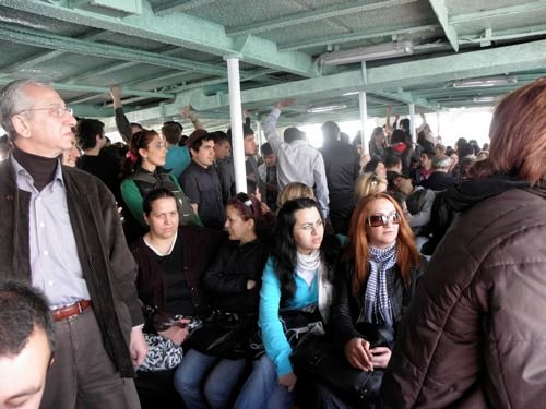 crowded Adalar Ferry
