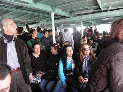 crowded Adalar Ferry