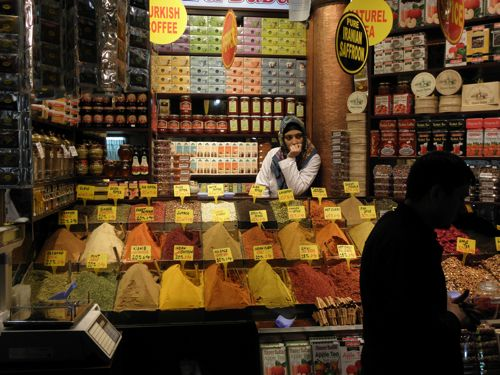 spice bazaar thoughtful woman