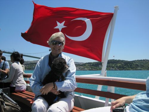 Ann and Libby--Bosphorus ferry