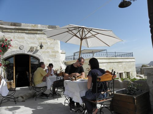 Kelebek breakfast terrace