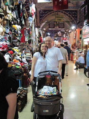 family in the Bazaar
