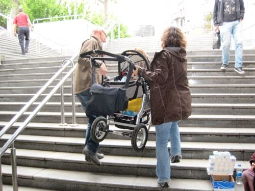 stroller stairs