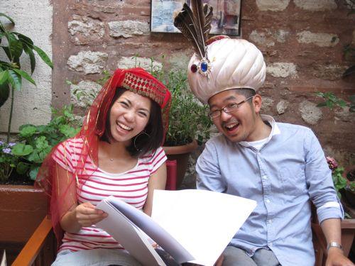 Mayu and Genya in costume