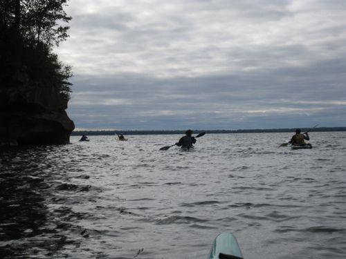 paddling in