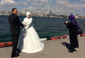 Turkish wedding photo on the Bosphorus, Ann Marie's Istanbul